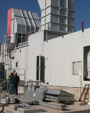 Noise protection enclosure for steam turbines