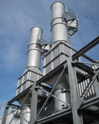 Exhaust air systems and silencers for food industries