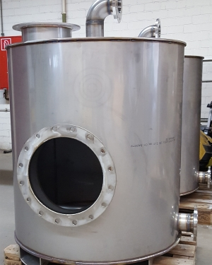 Non-pressure exhaust air filter vessel