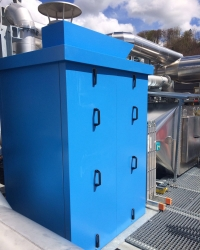 Powder coated noise protection enclosure