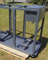 Steel base frame for engine technologies